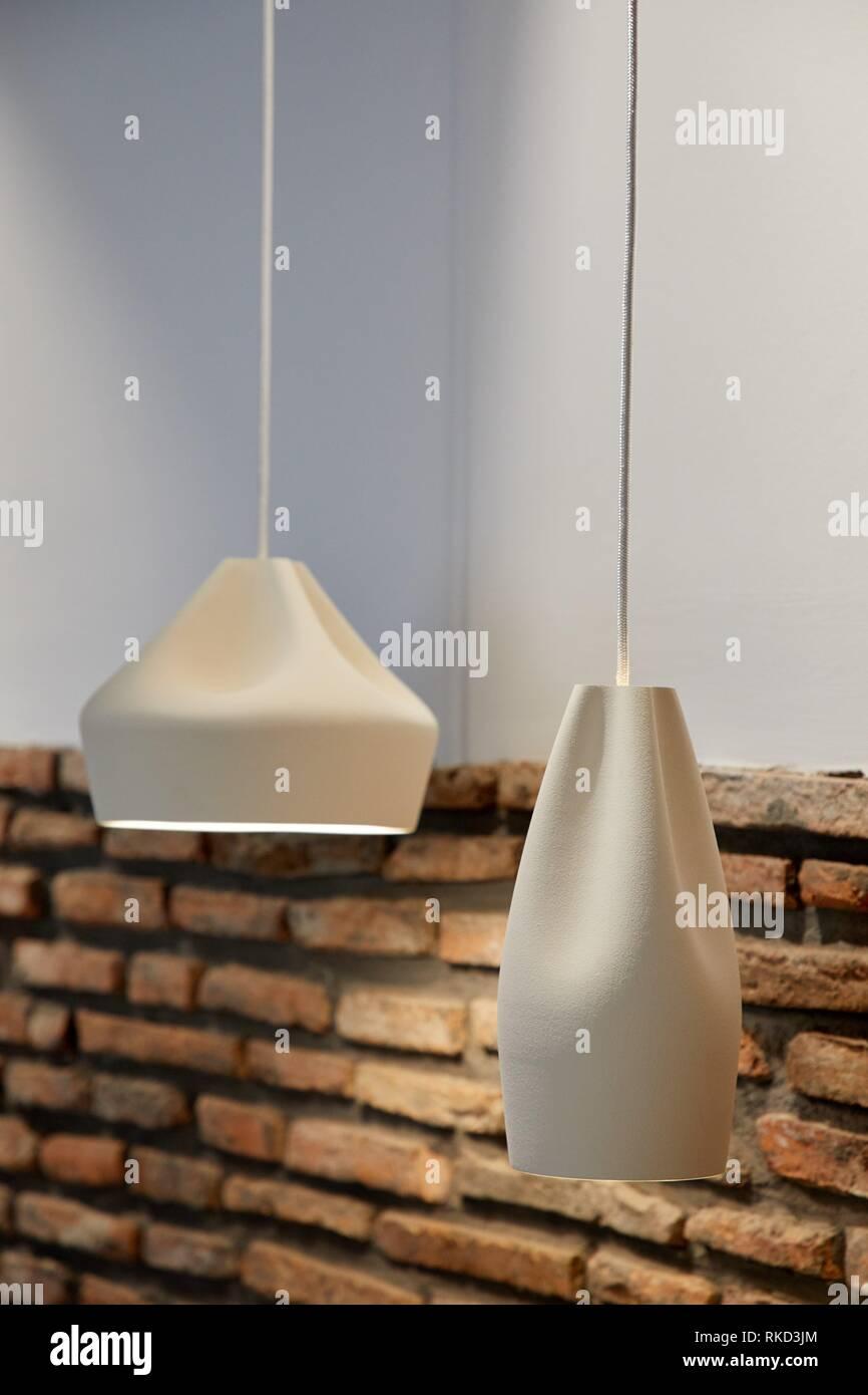 illumination, Interior decoration of housing, Oñati, Gipuzkoa, Basque Country, Spain, Europe - Stock Image