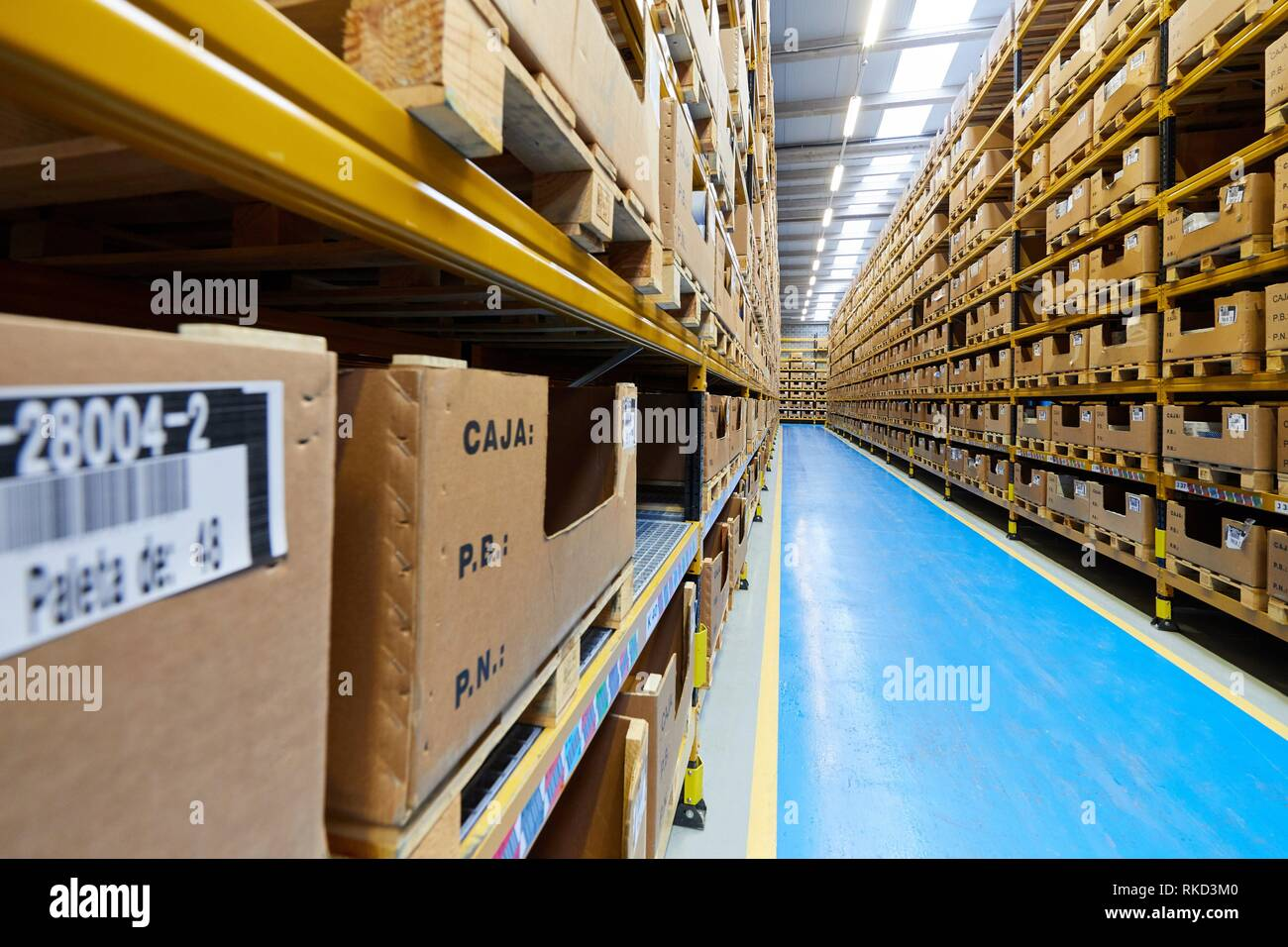Warehouse, Automotive parts, Metallurgical industry, Gipuzkoa, Basque Country, Spain, Europe - Stock Image