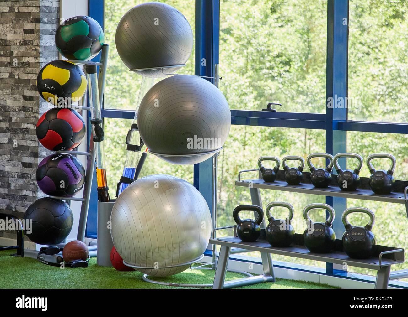 Fitness center, Donostia, San Sebastian, Basque Country, Spain, Europe - Stock Image