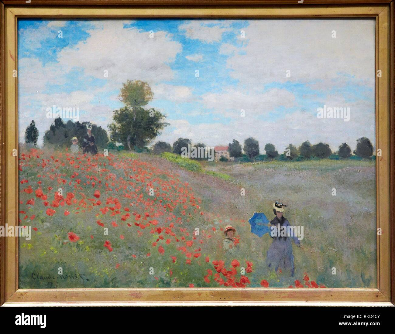 '''Poppies at Argenteuil'', 1873, by Claude Monet (1840-1926), oil on canvas, 50x60 cm. Musée d'Orsay. Orsay Museum. Paris. France. - Stock Image