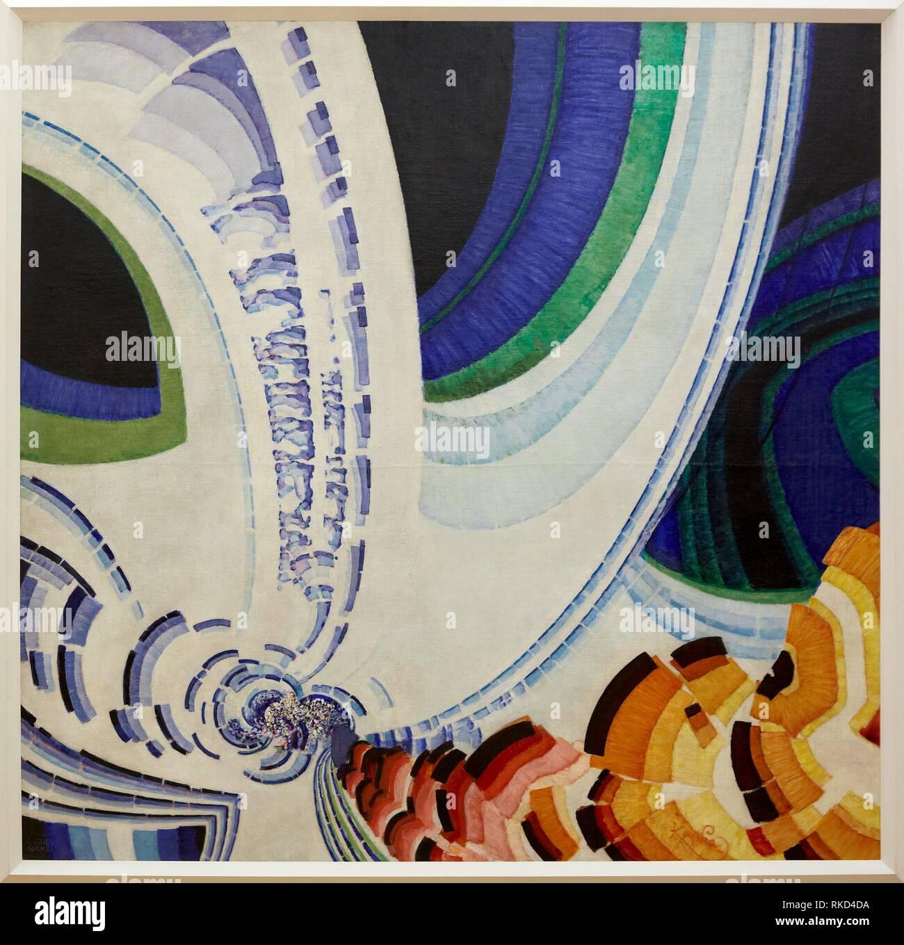 """""""""""""""Lignes animées"""""""". Frantisek Kupka. Centre George Pompidou. Musee National d'Art Moderne. Paris. France Stock Photo"""