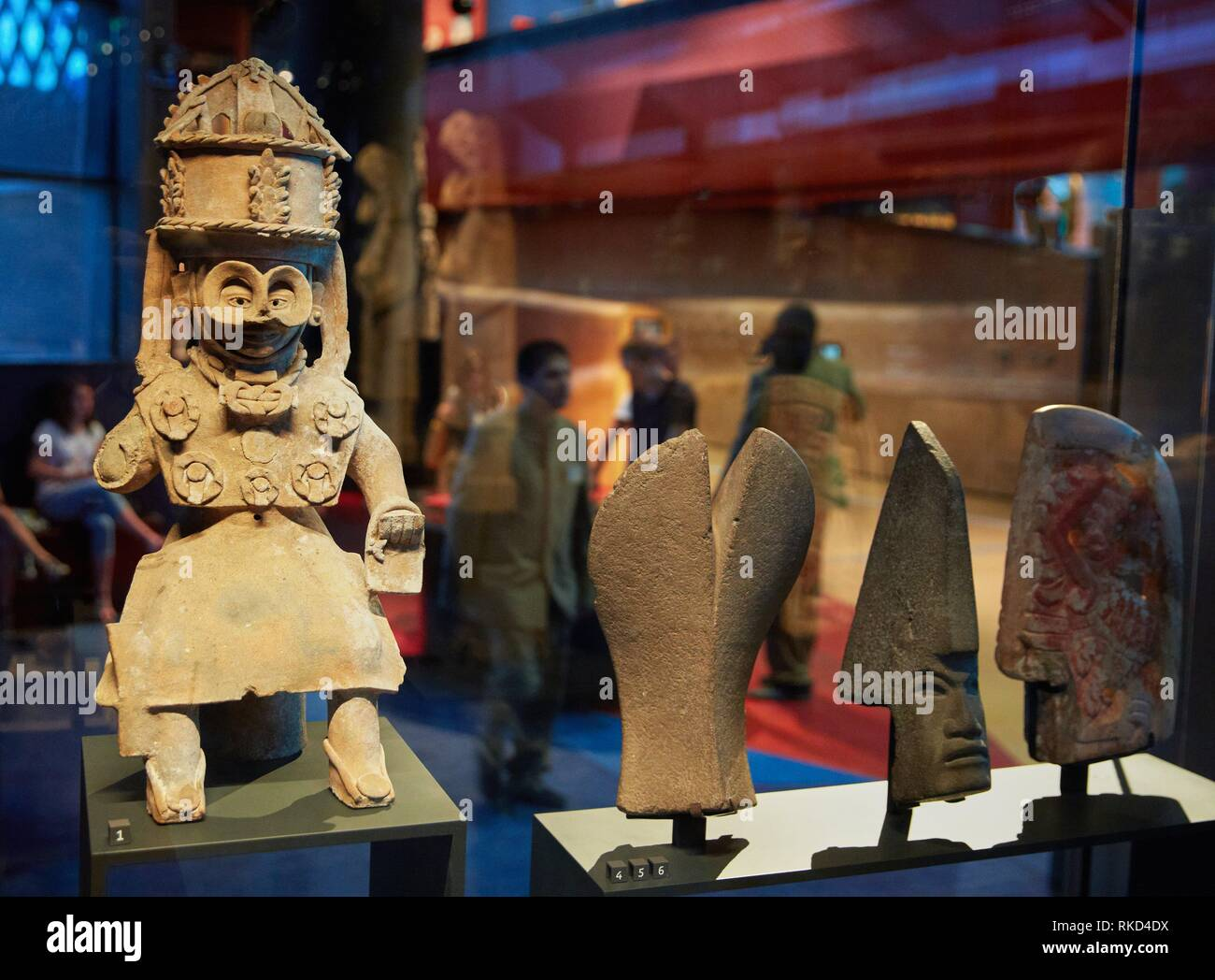 God of rain and atmospheric phenomena. Mexico. Musée du Quai Branly museum, specialised for primitive or tribal arts, architect Jean Nouvel. Paris. - Stock Image