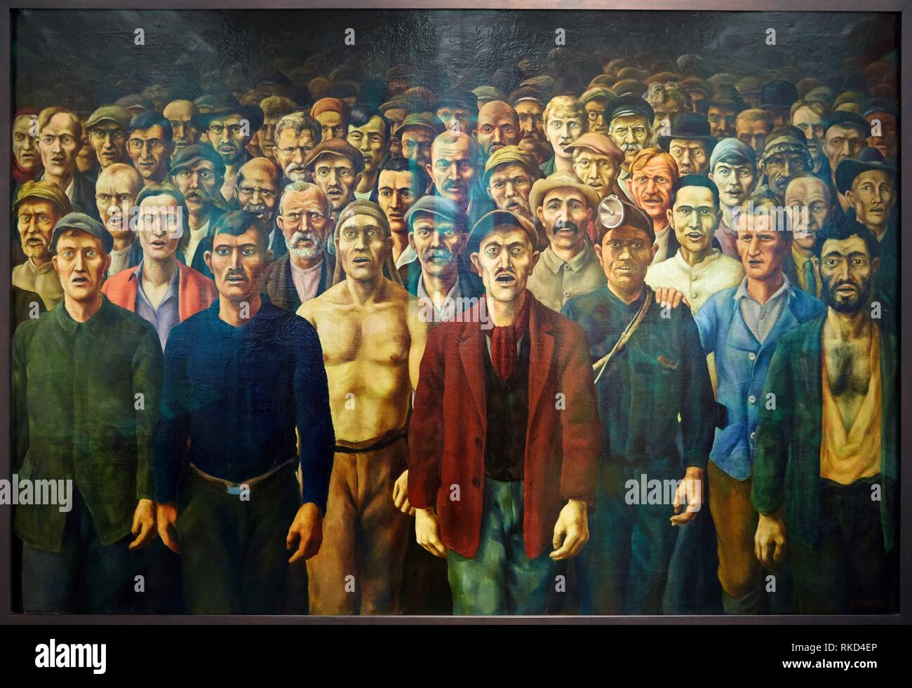 '''The International'', Otto Giebel, 1929, Deutsches Historisches Museum, Berlin, Germany - Stock Image