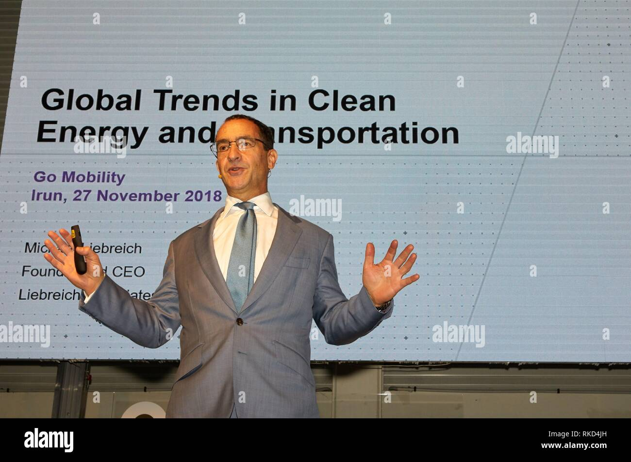 Michael Liebreich, Feria Go Mobility Exhibition, Basque Sustainable Mobility and energy storage industry´s, Ficoba, Irun, Gipuzkoa, Basque Country, - Stock Image