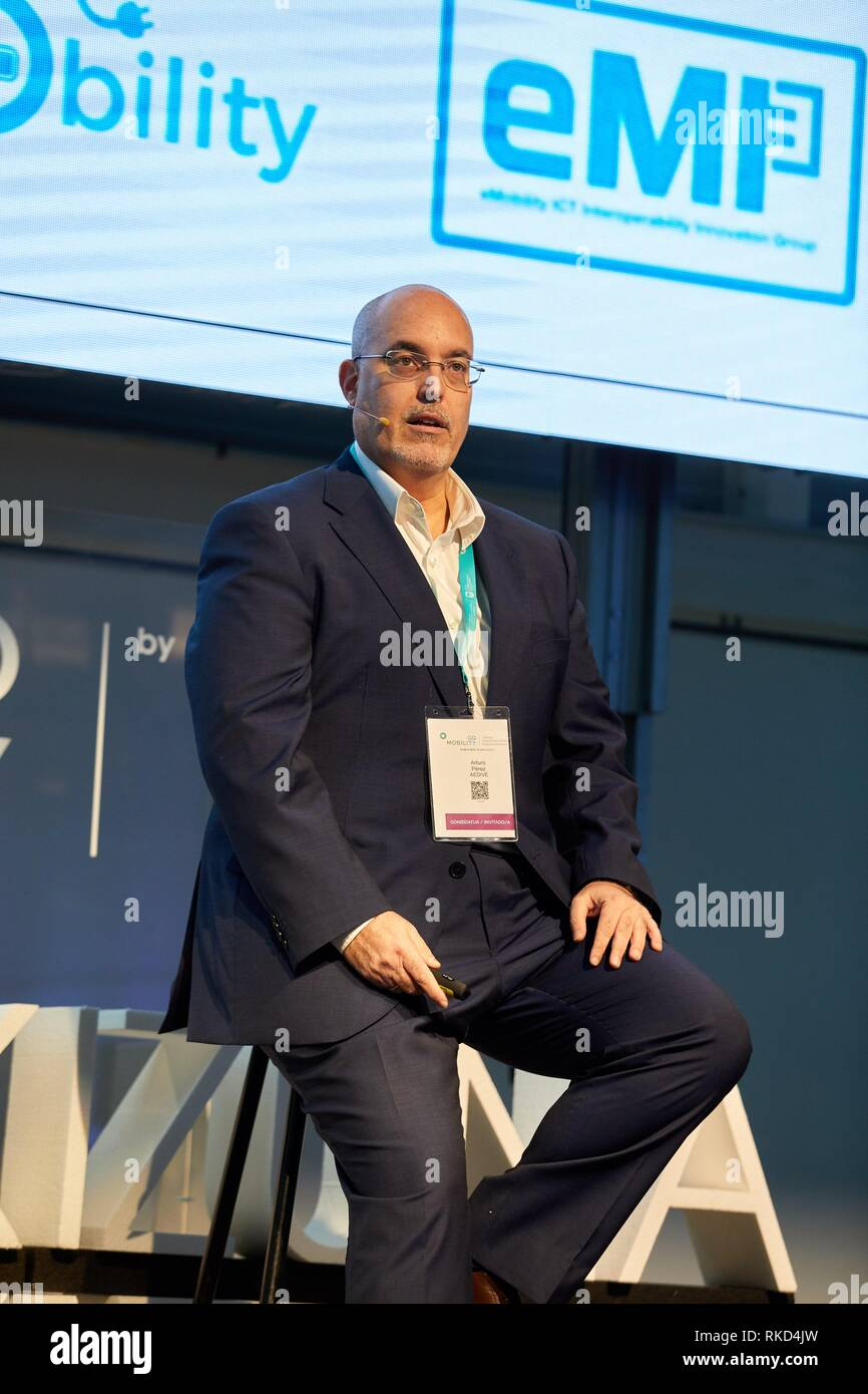Arturo Perez de Lucia, Managing Director.AEDIVE, Feria Go Mobility Exhibition, Basque Sustainable Mobility and energy storage industry´s, Ficoba, - Stock Image