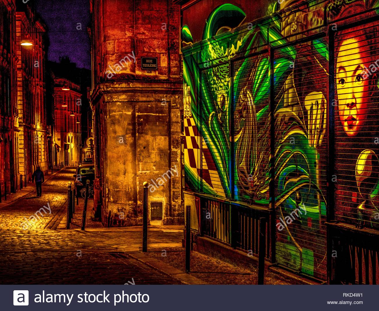 France, Nouvelle aquitaine, Gironde. Rue Buhan, in the old Bordeaux. - Stock Image
