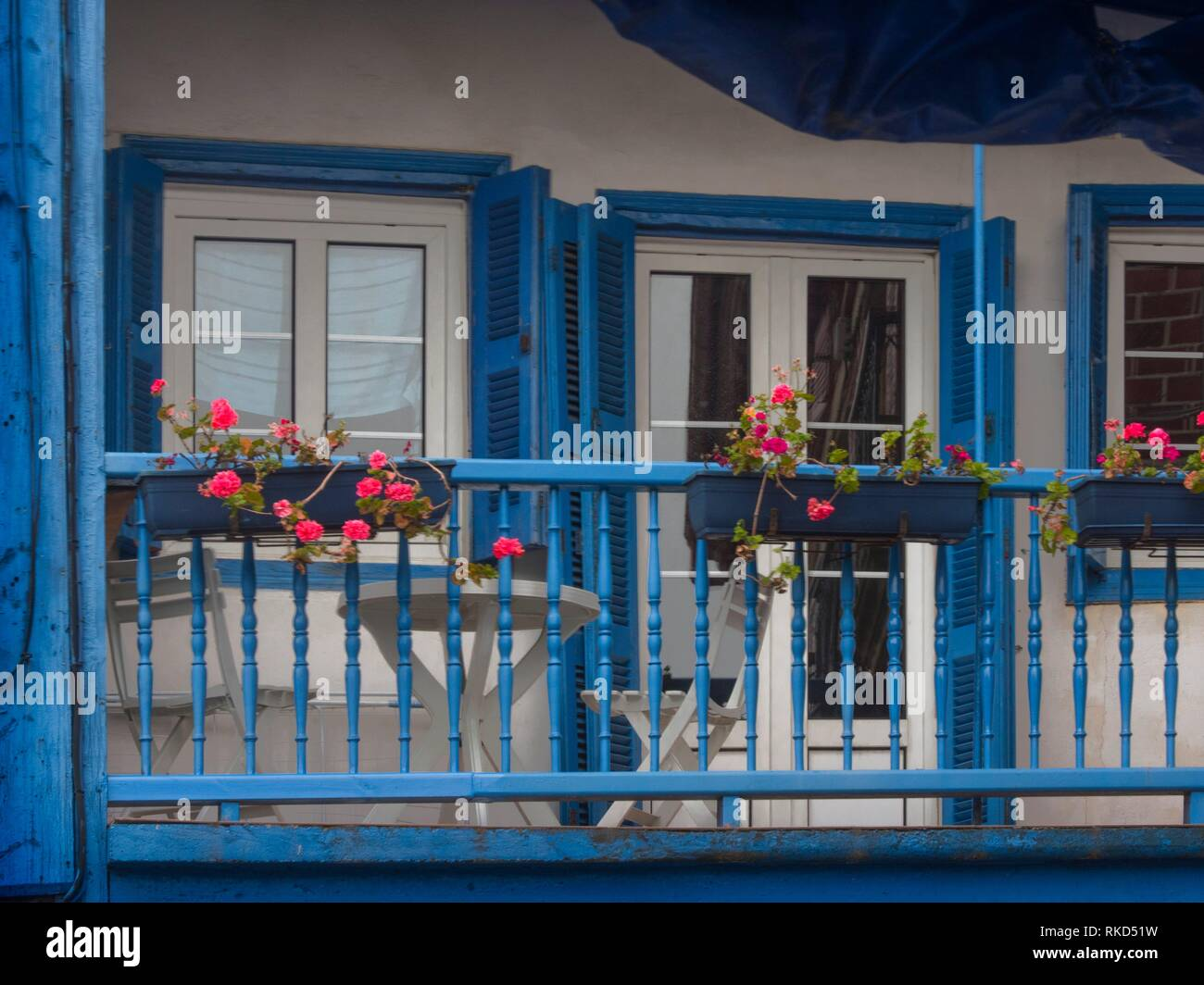 Spain, Basque Country, Guipuzcoa, at the village of Donibane ( former Pasajes de San Juan) where from Lafayette left to the American Independance - Stock Image