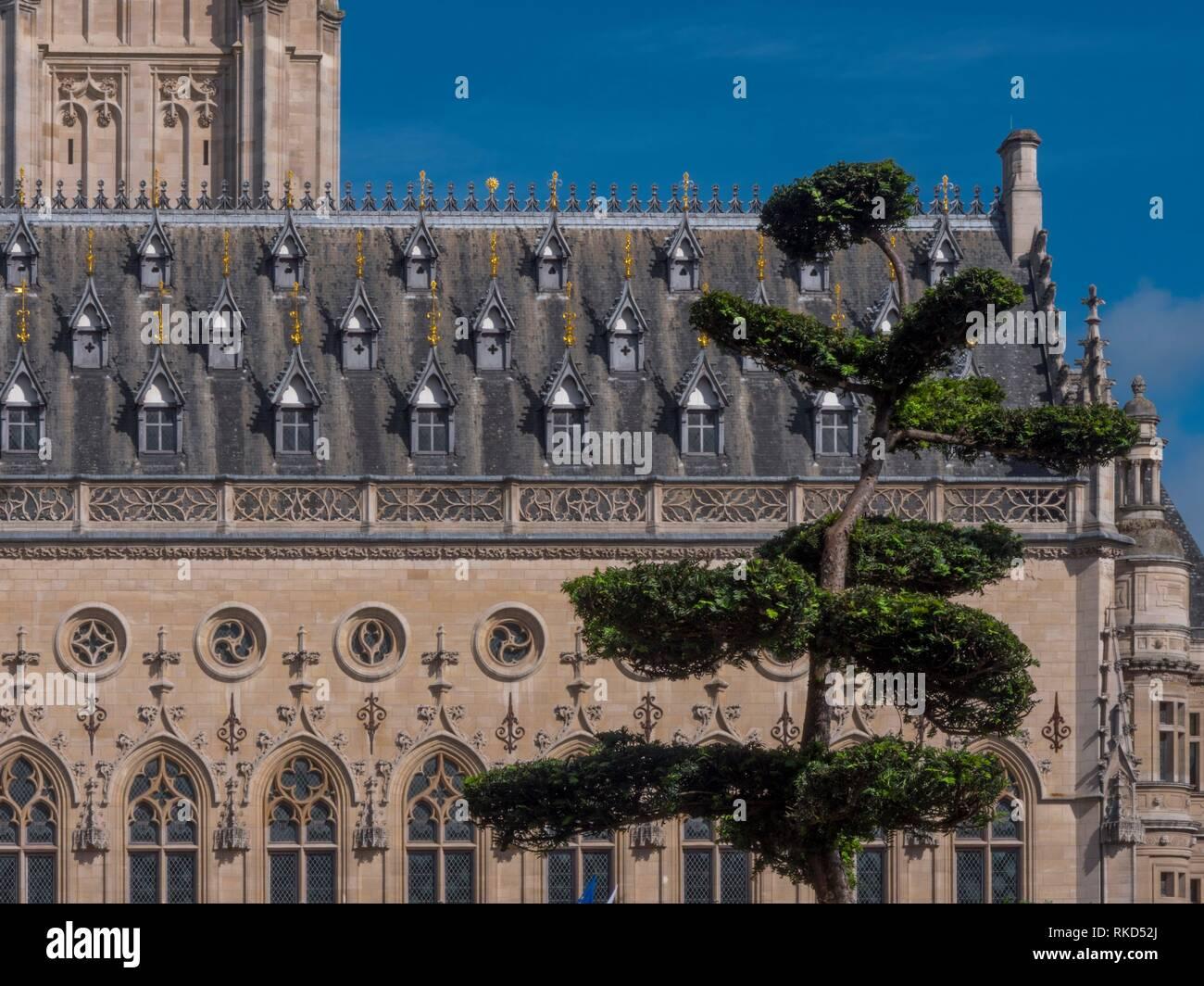 France, Hauts de France, Pas de Calais, Town Hall at Arras. - Stock Image