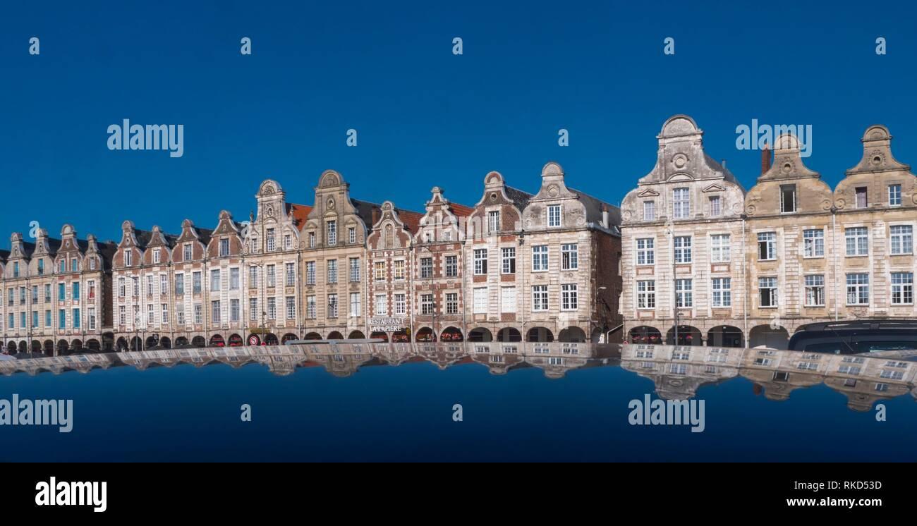 France, Hauts de France, Pas de Calais, Arras, the Grand Place. - Stock Image