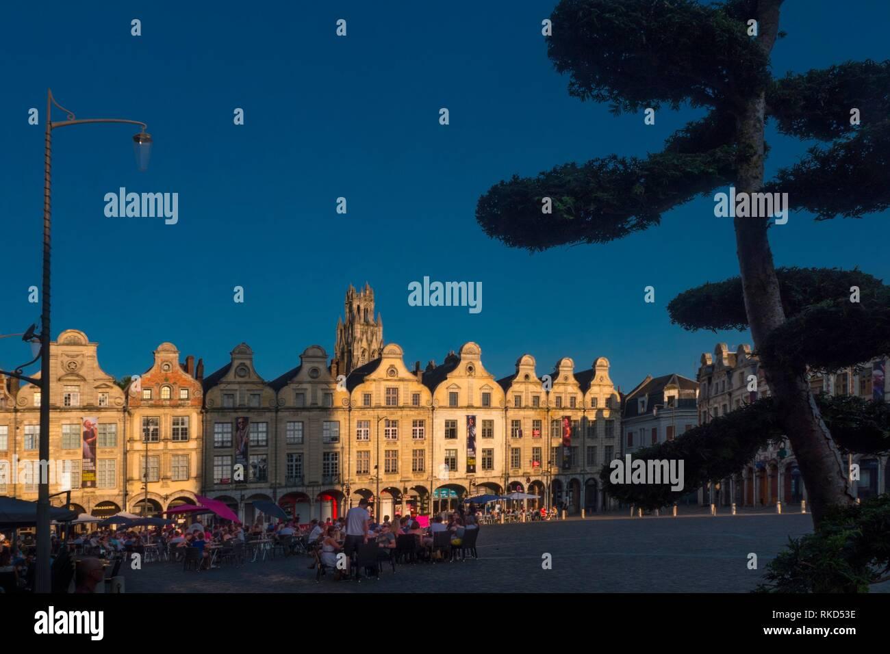 France, Hauts de France, Pas de Calais, Arras, Place des Heroes. - Stock Image