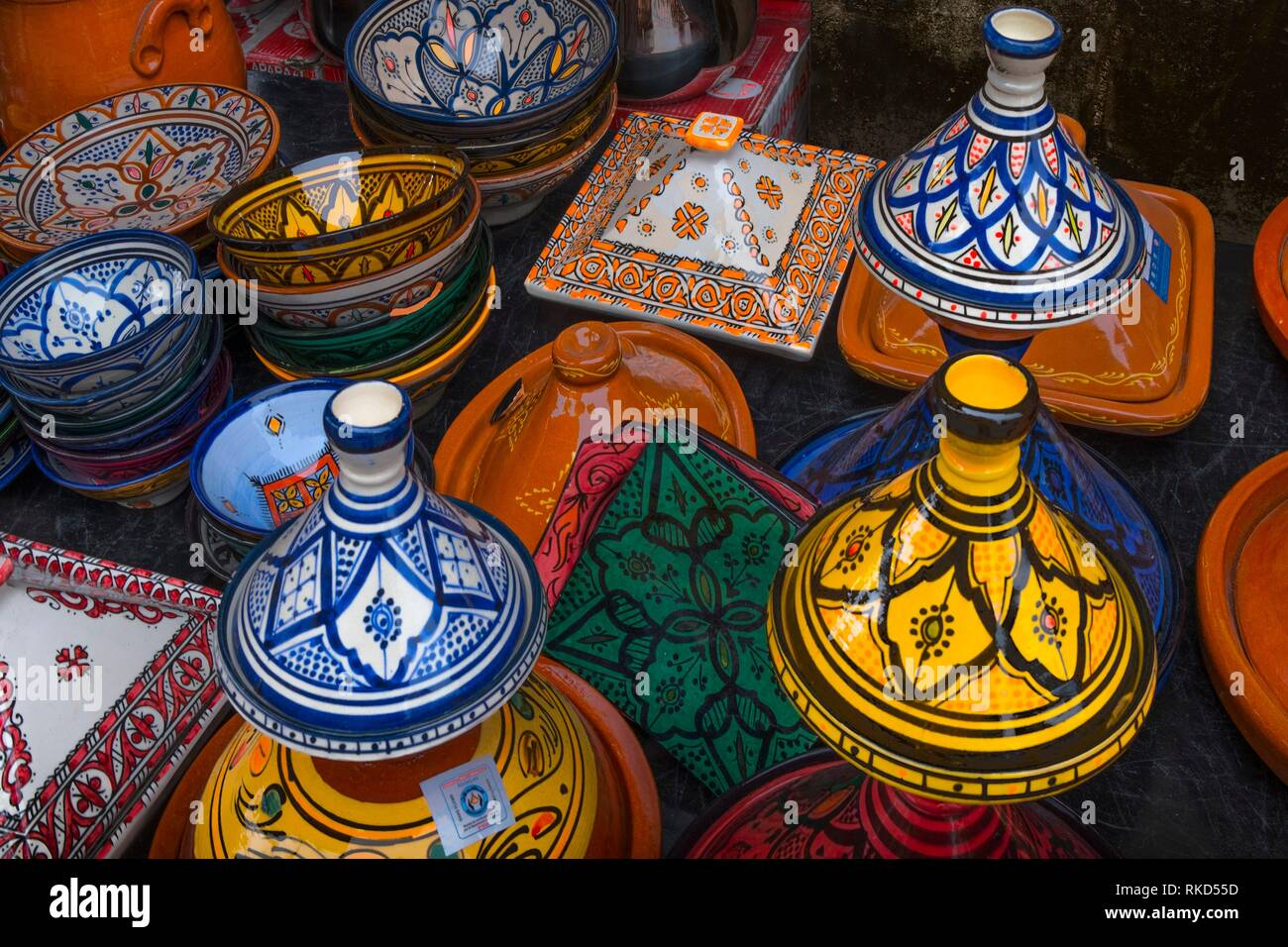 Morocco, Handicraft, Ceramics - Stock Image