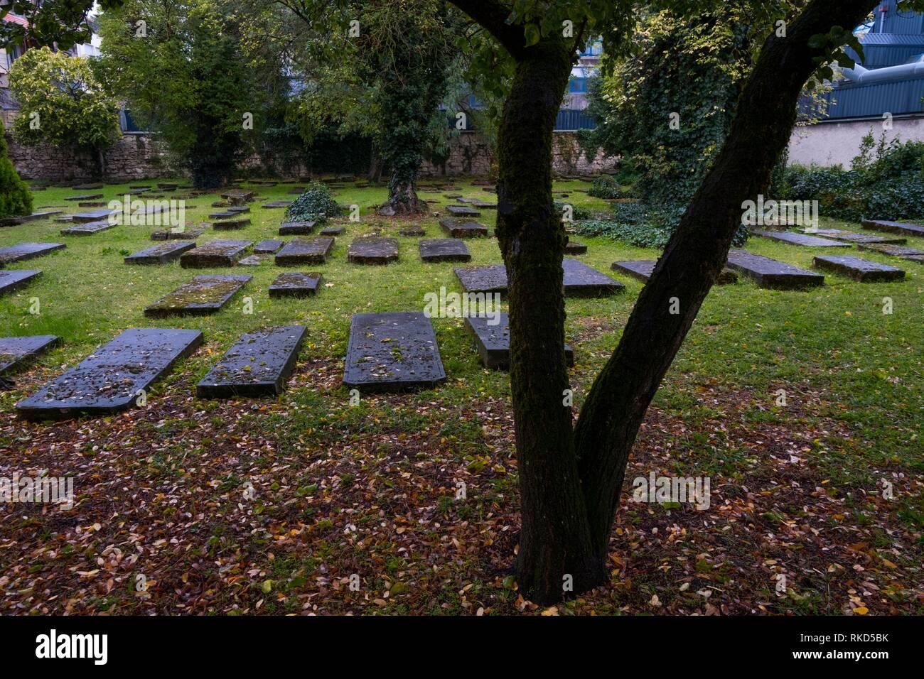 France, Nouvelle Aquitaine, Gironde, Bordeaux, Cimetière de Juifs portugais (Cemetery of Portuguese Jews) - Stock Image