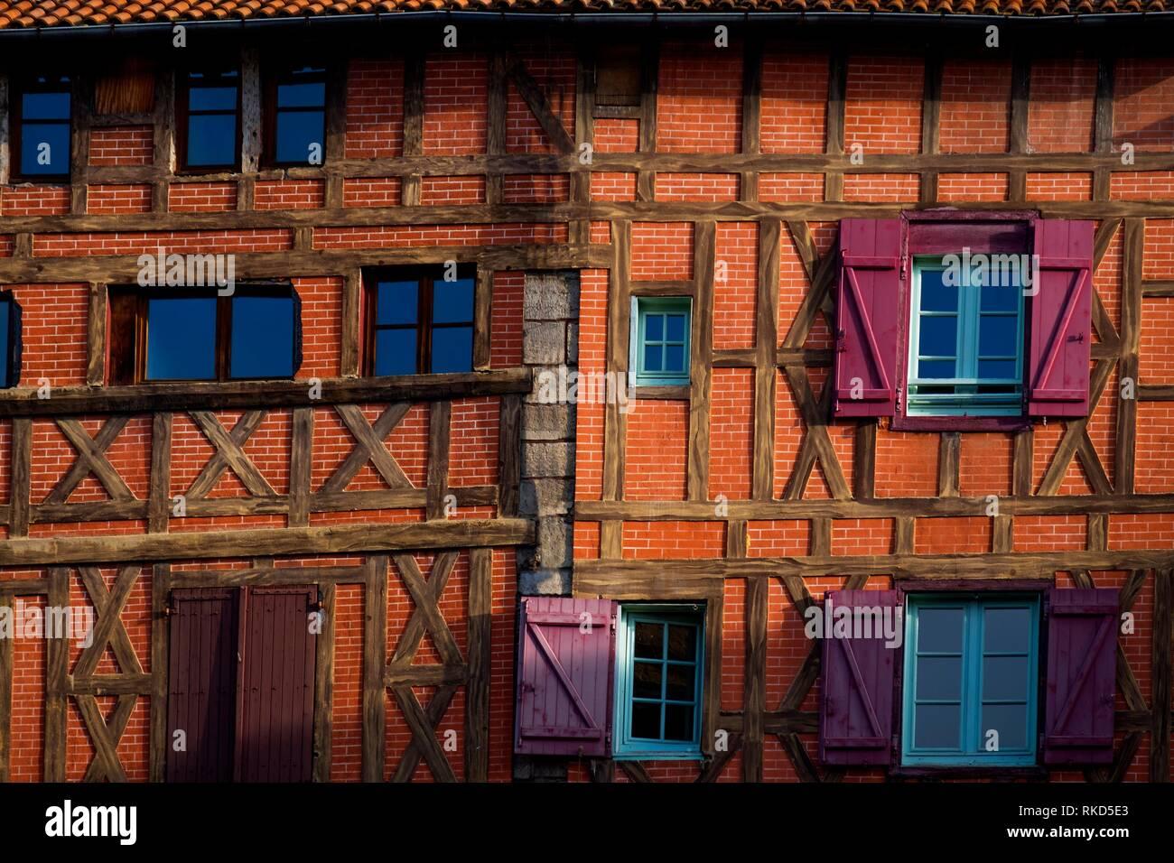 France, Occitanie, Lot, at Figeac. Pilgrimage way to Santiago de Compostela. - Stock Image