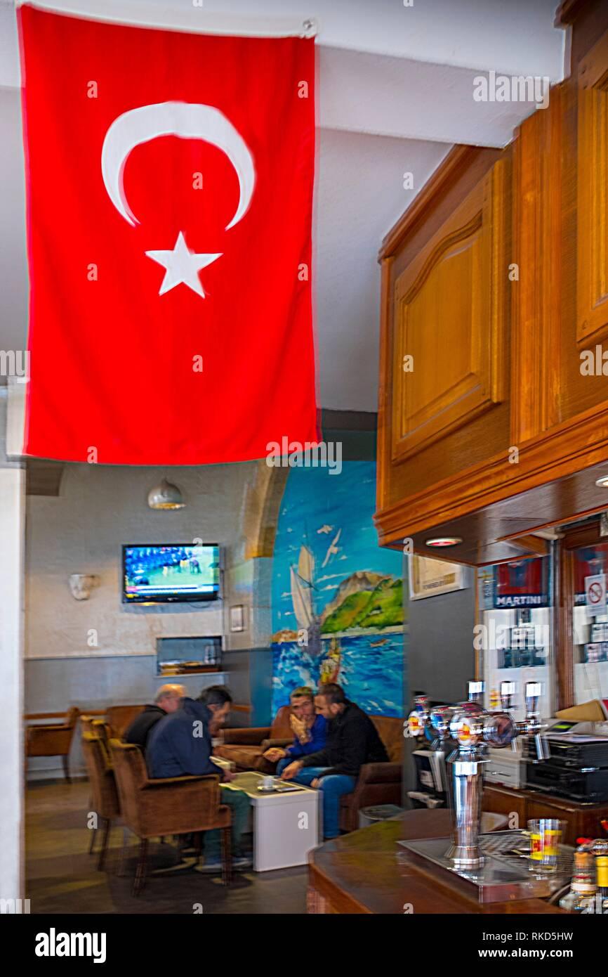 France, Nouvelle Aquitaine, Gironde, Turkish Café: ´Le Coin du Sultan´, at Bordeaux. Stock Photo