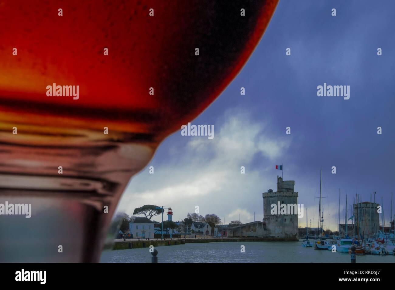 France, Nouvelle Aquitaine, Charente Maritime, Vieux Port at La Rochelle - Stock Image