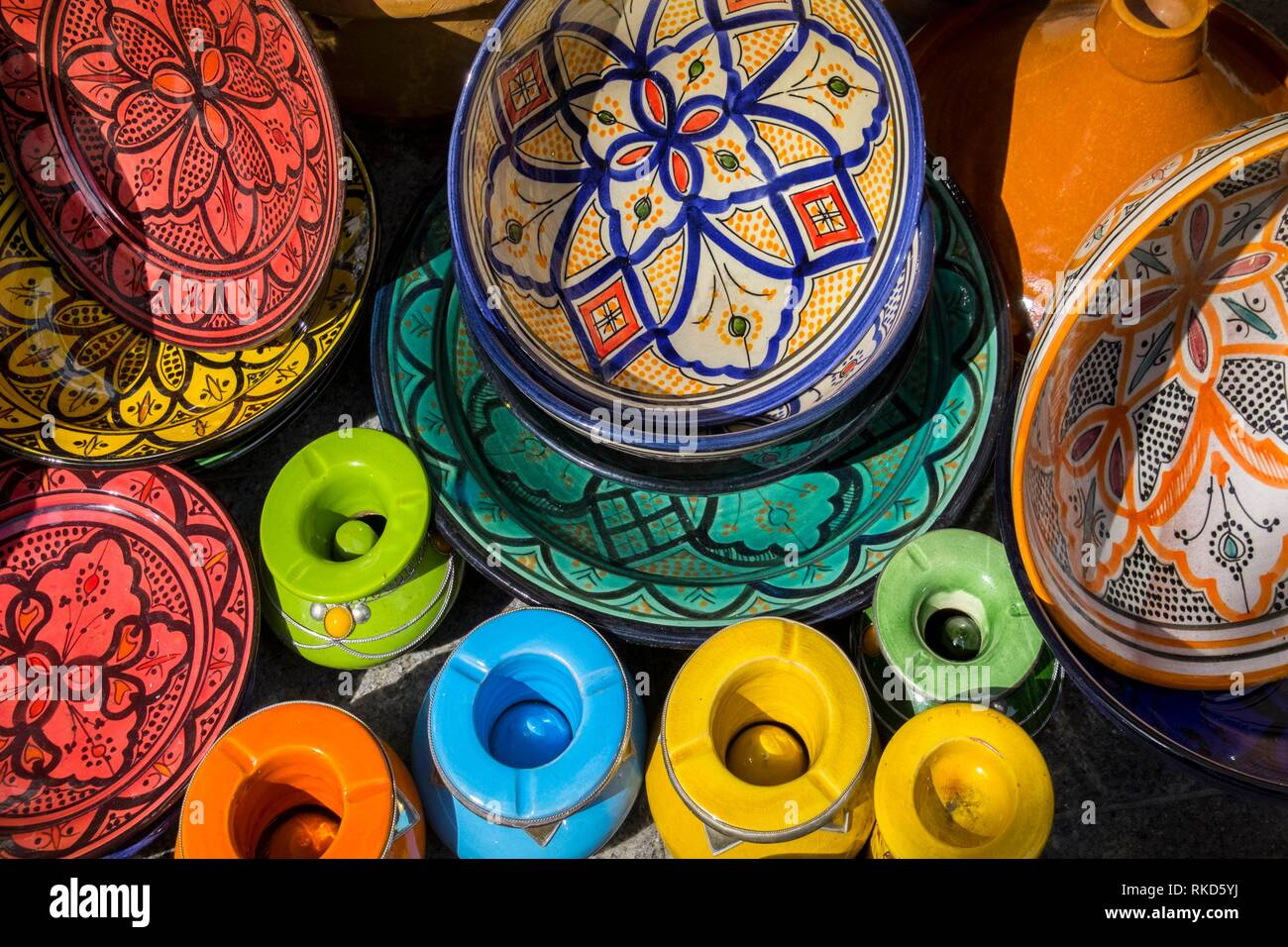 Morocco, Handicraft, typical ceramics. - Stock Image