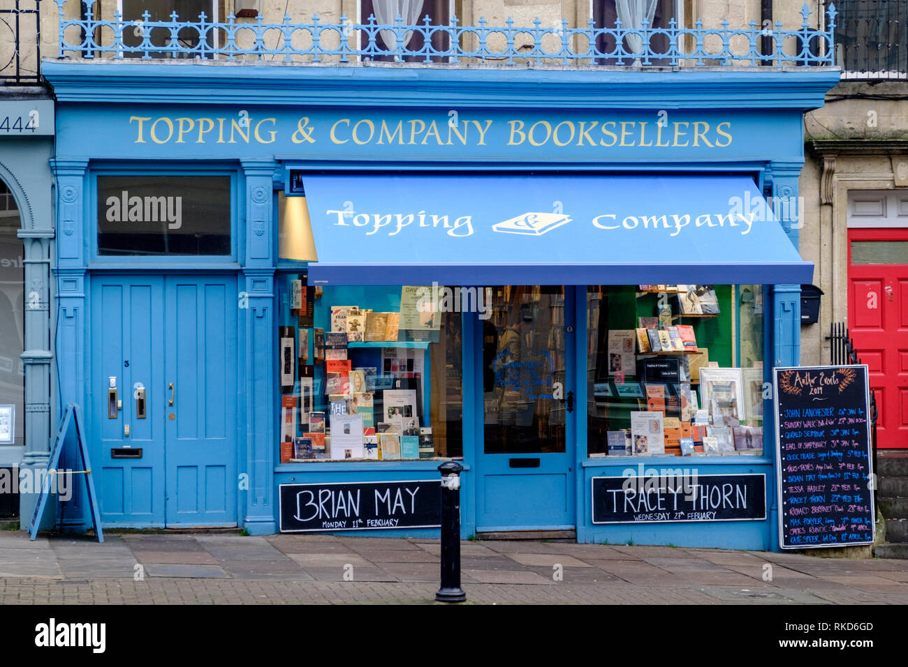 Around the historic city of Bath, somerset England UK Topping and Co Book sellers. - Stock Image