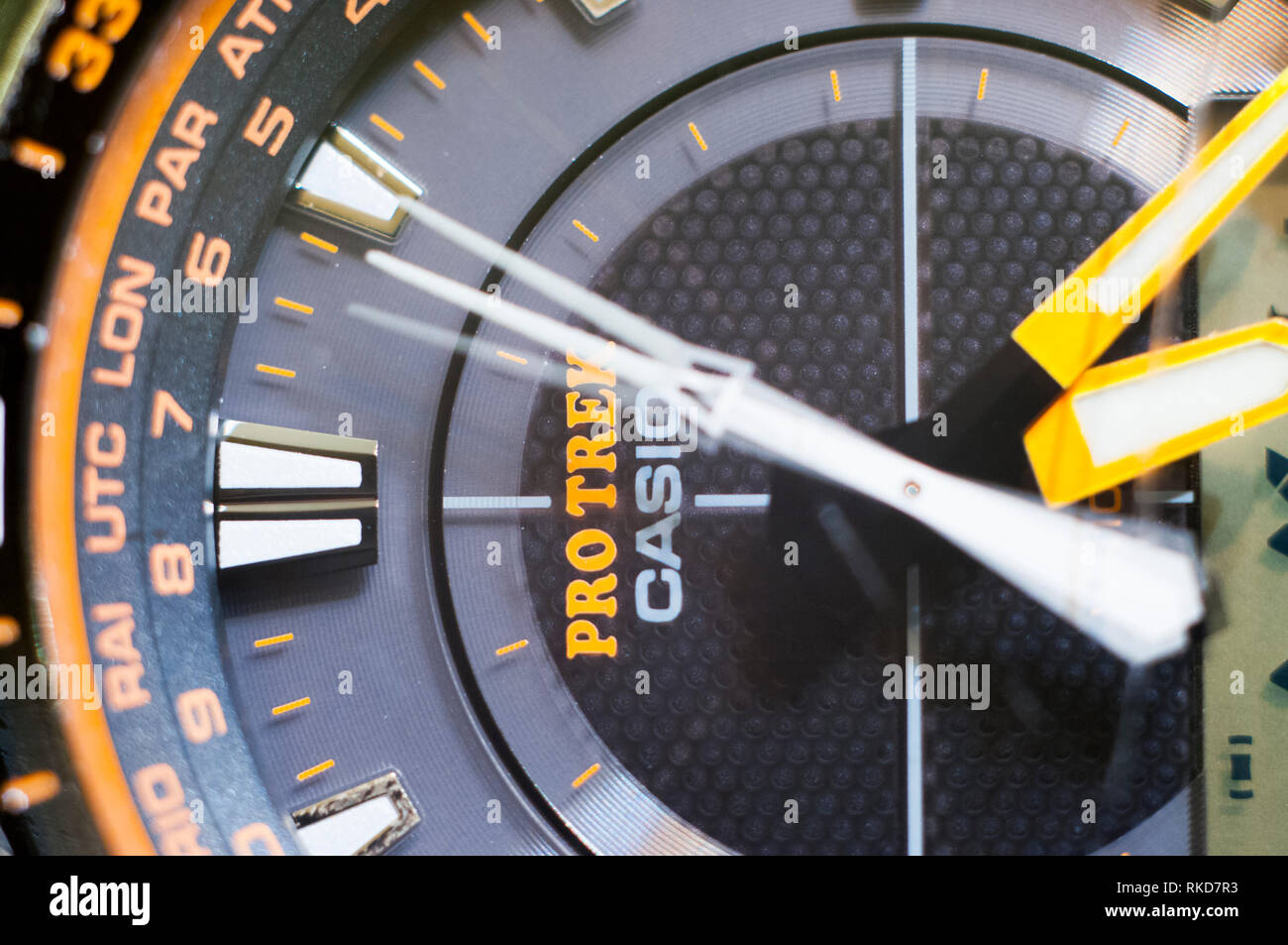Casio ProTrek PRG 510GB watch with a triple sensor watch series of watches from the electronics manufacturer company Casio. - Stock Image