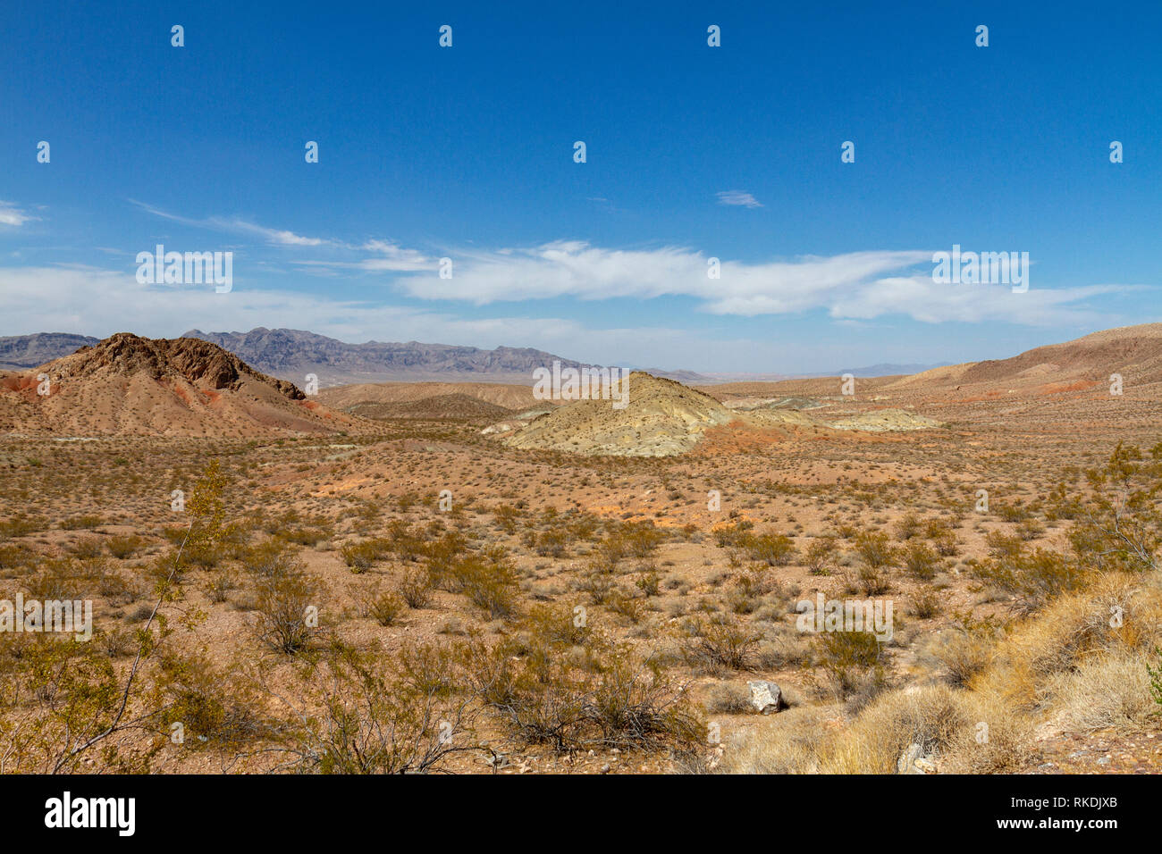 View north from the NV-167 (Northshore Road), Lake Mead Recreation Area, Nevada, United States. - Stock Image