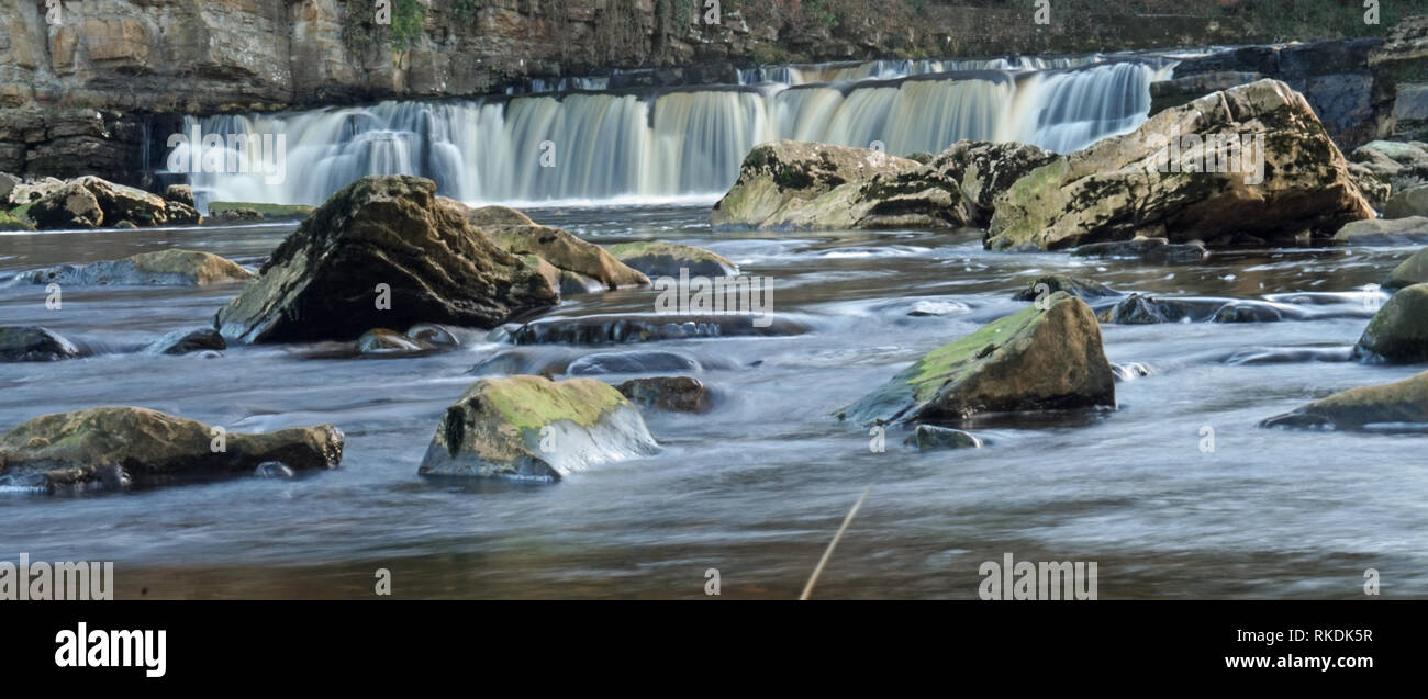 Waterfall's In Richmond, North Yorkshire Stock Photo