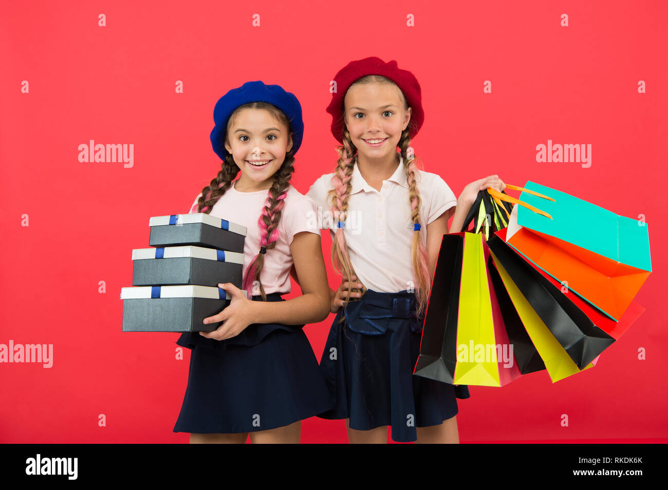 Birthday Present Shopping And Holidays For My Dear Friend Girl Giving Gift Box To Girls Friends Celebrate Holiday Children Formal Wear With