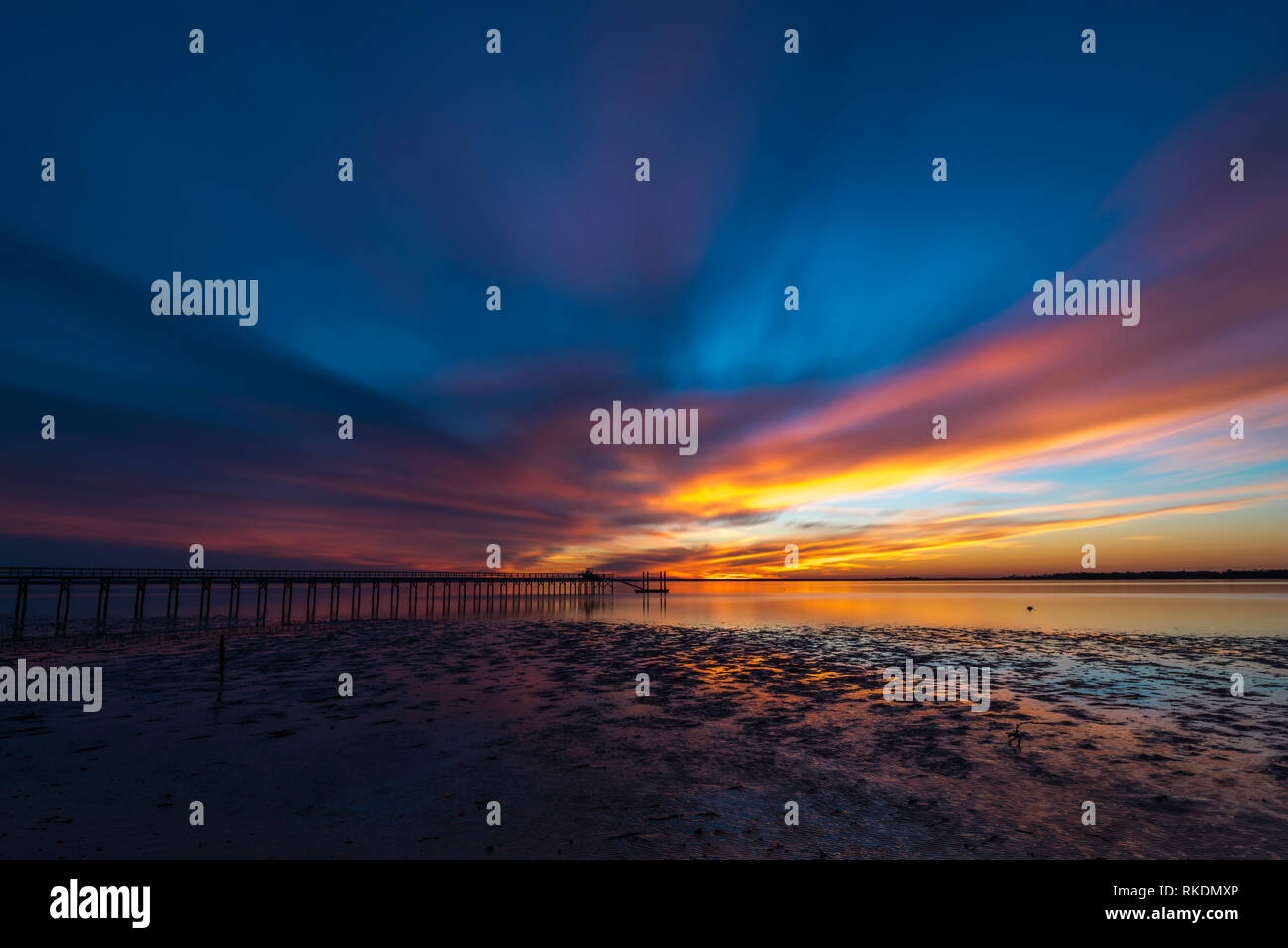 Sunset at Fort Freemont Reach - Stock Image