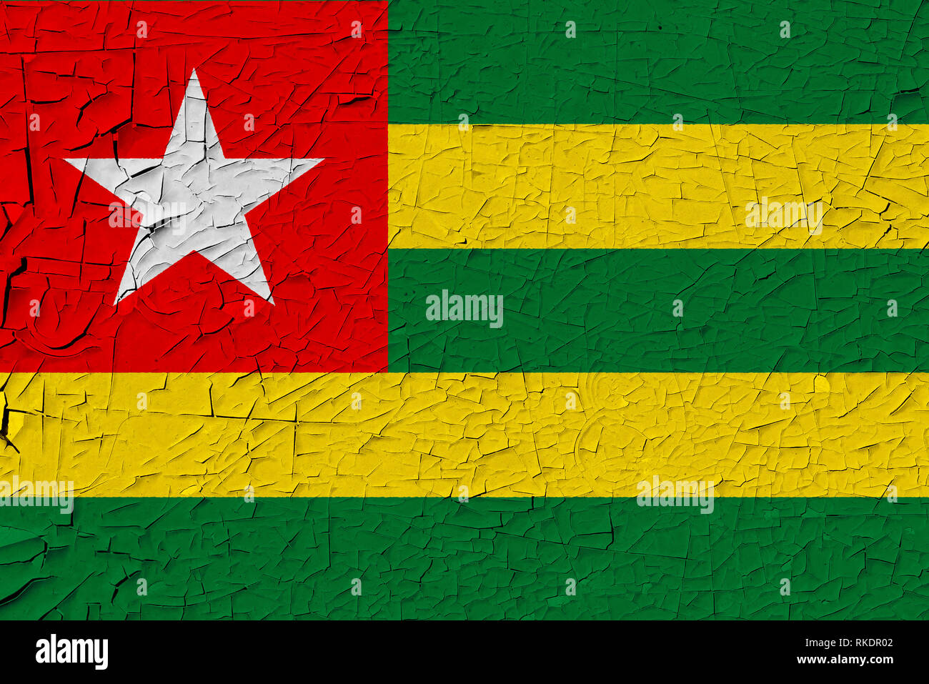 Togo painted flag - Stock Image
