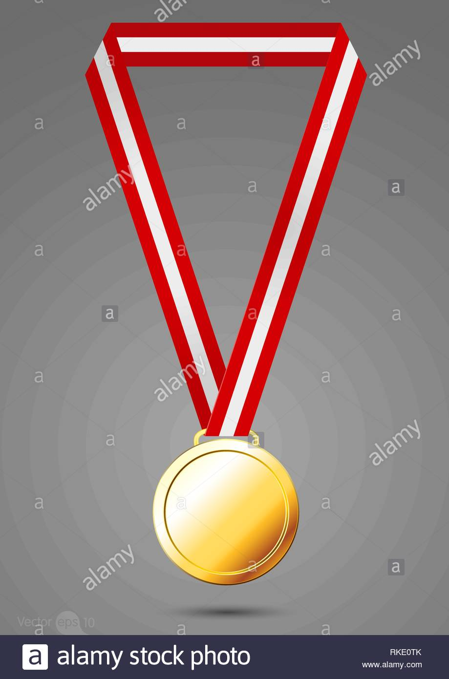 Gold, silver and bronze medals. vector - Stock Vector