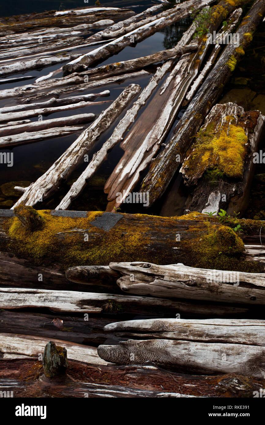 Unwin Lake, Desolation Sound, British Columbia, Canada - Stock Image