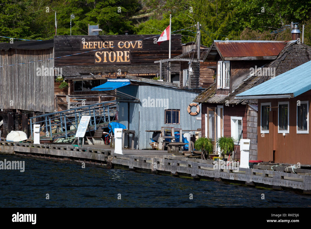 Refuge Cove, Desolation Sound, British Columbia, Canada - Stock Image
