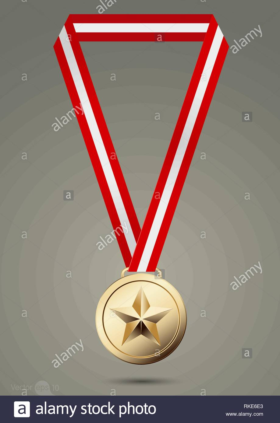 Gold, silver and bronze medals. vector Stock Vector