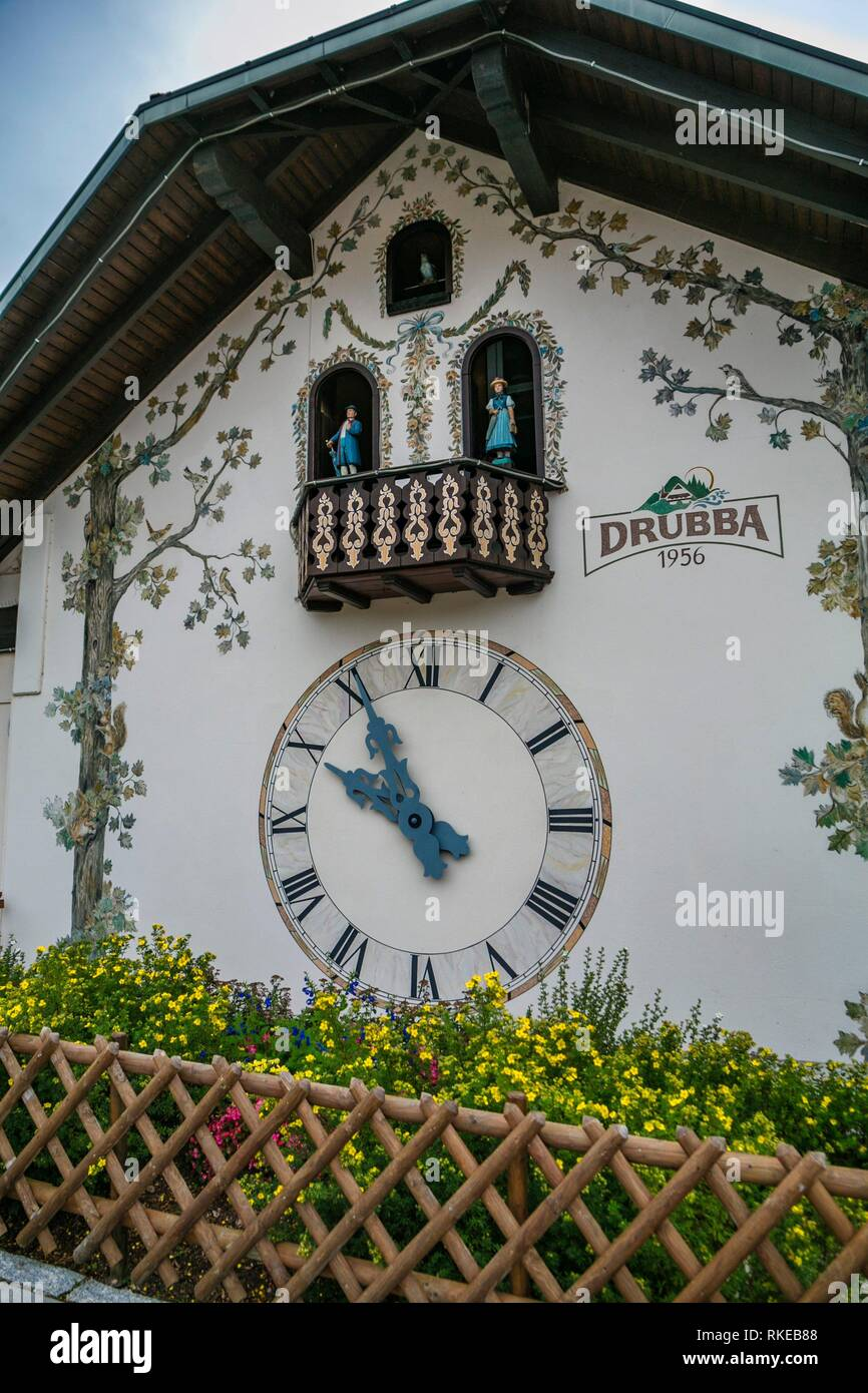 Black Forest Cuckoo Clock. Drubba company. Titisee. Titisee-Neustadt. Black Forest. Baden Wurttemberg. Germany. Europe - Stock Image