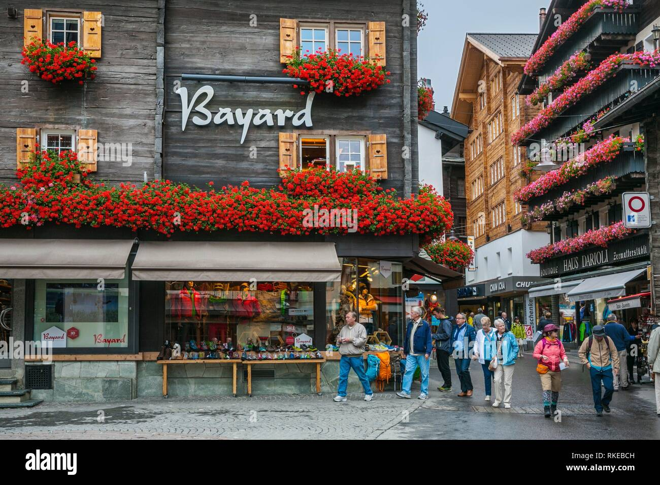 Zermatt. Swiss Alps. Valais. Switzerland. Europe. - Stock Image
