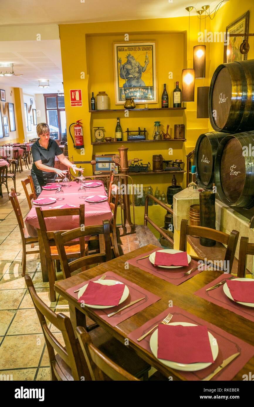 Bodega El Mercat REstaurant. Ruzafa. Valencia. Comunidad Valenciana. Spain - Stock Image