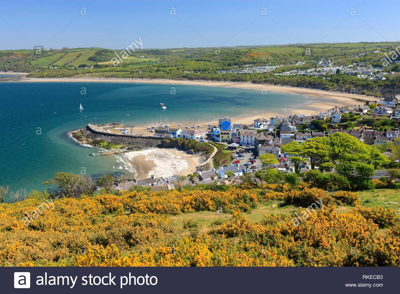 New Quay Ceredigion Wales. - Stock Image