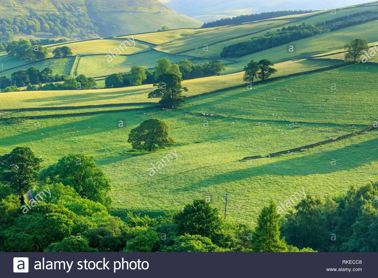 Hayfield High Peak Derbyshire England. - Stock Image