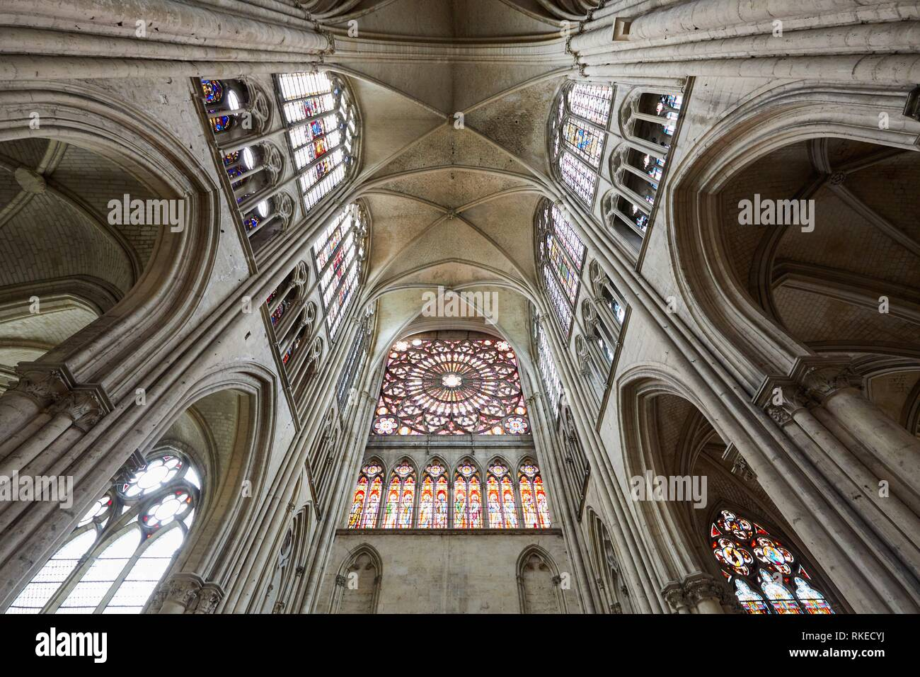 Cathedrale Saint-Pierre Saint-Paul, Troyes, Champagne-Ardenne Region, Aube Department, France, Europe - Stock Image