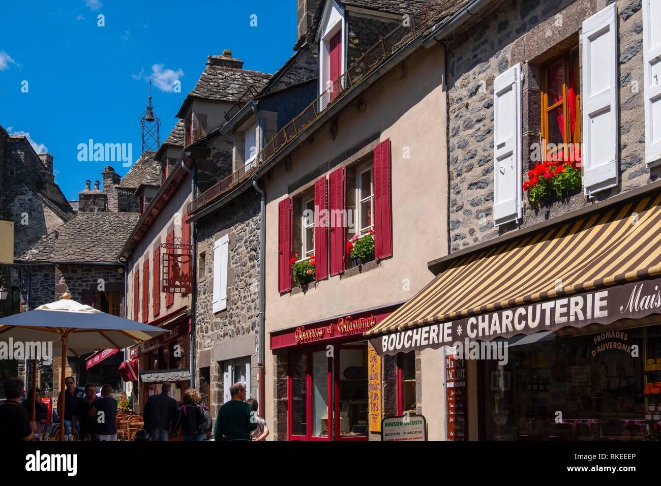 France, Auvergne, Cantal, at Salers. - Stock Image