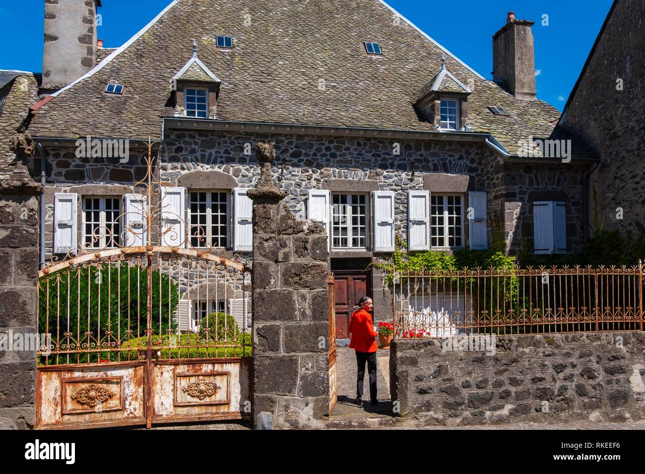 France, Auvergne, Cantal, at the village of Salers. - Stock Image