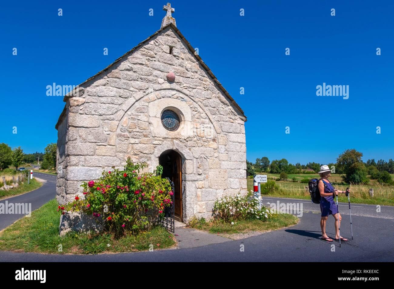 France, Occitanie, Lozére, Capel on the pilgrimage way to Santiago de Compostela, near La Chaze de Peyre. - Stock Image