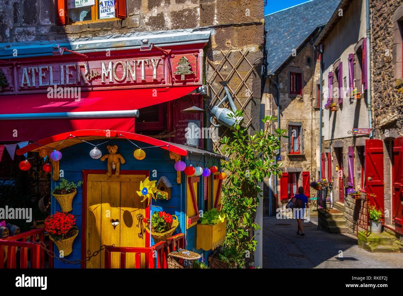 France, Auvergne, Puy de Dome, at Besse Saint Anasthaise. Stock Photo