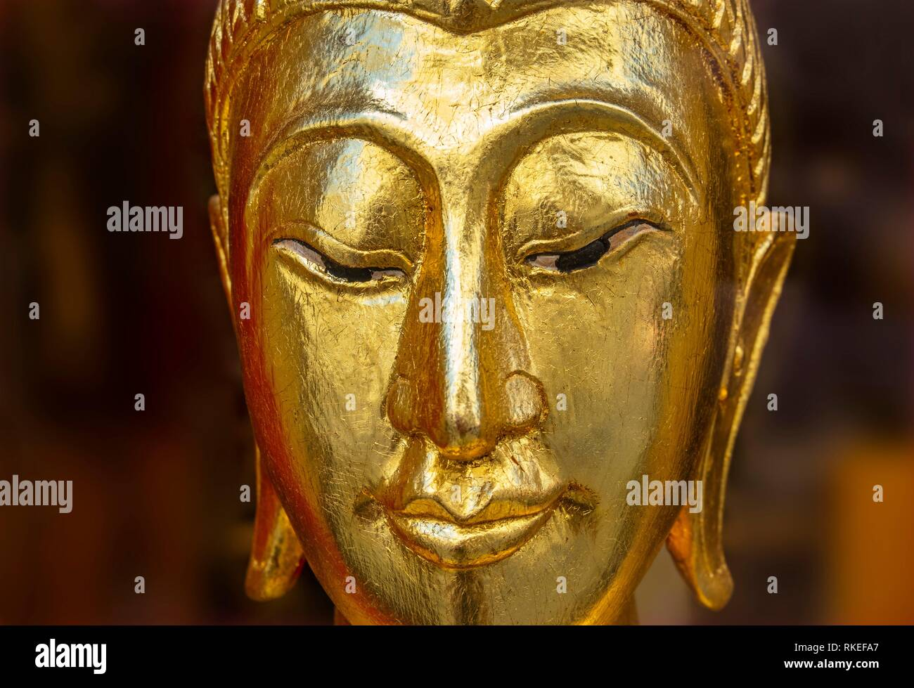 Buddha.In Buddhism, Buddha is a title for someone who has achieved enlightenment, nirvana and Buddhahood, and has fully comprehended the Four Noble - Stock Image