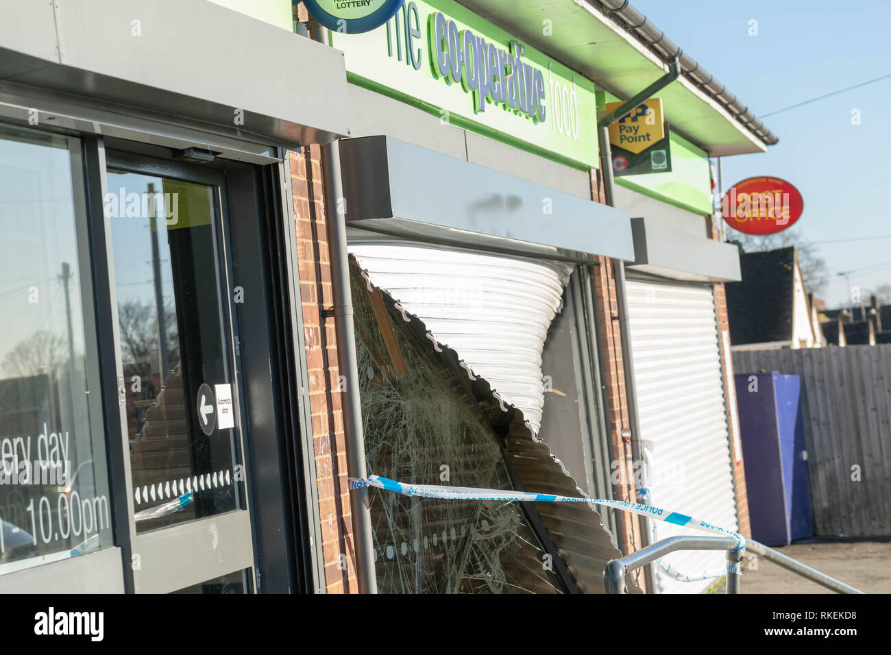 Brentwood, Essex 11th February 2019 Thieves broke in to the
