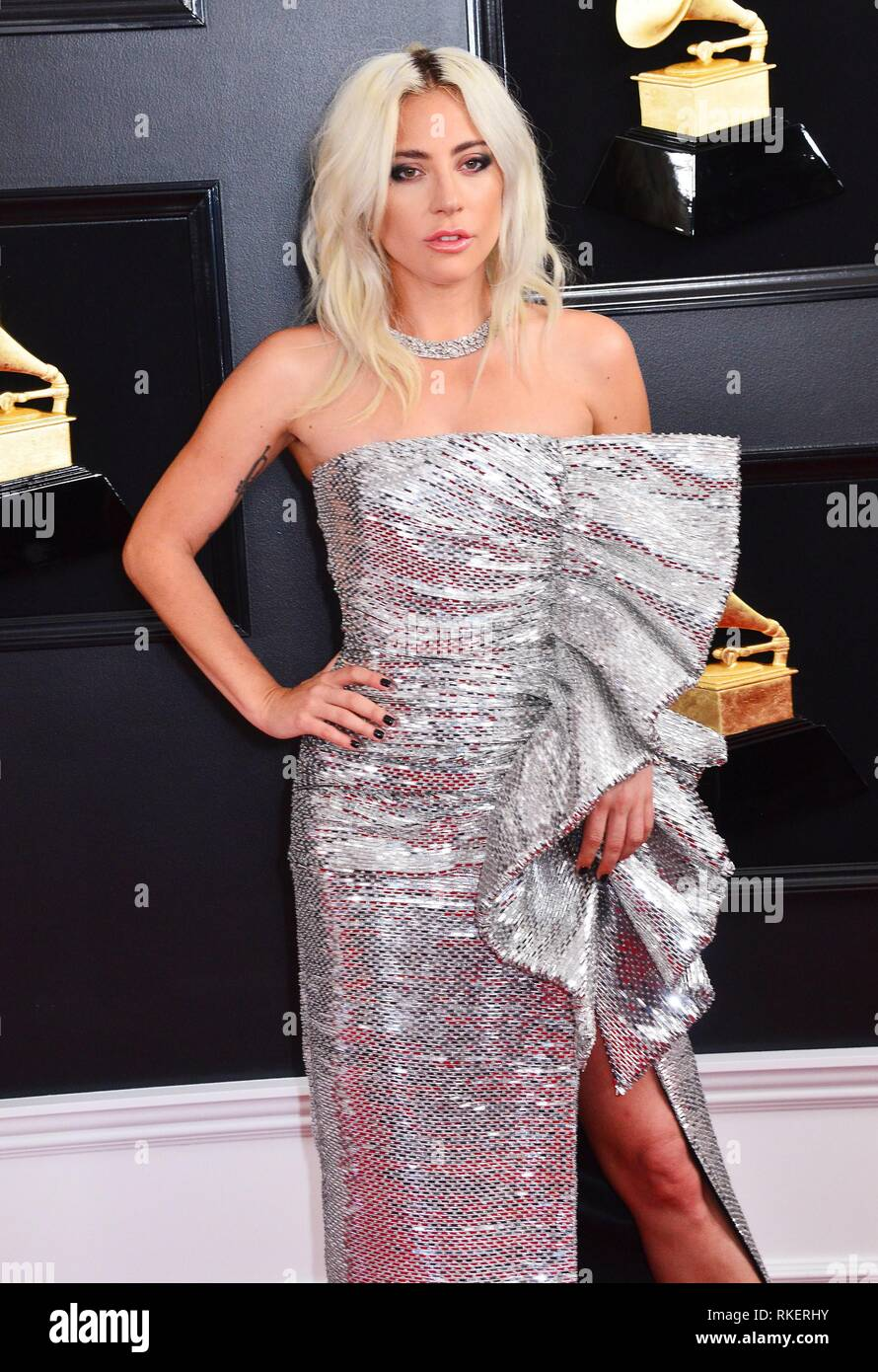 los angeles ca usa 10th feb 2019 lady gaga at arrivals for 61st annual grammy awards alamy
