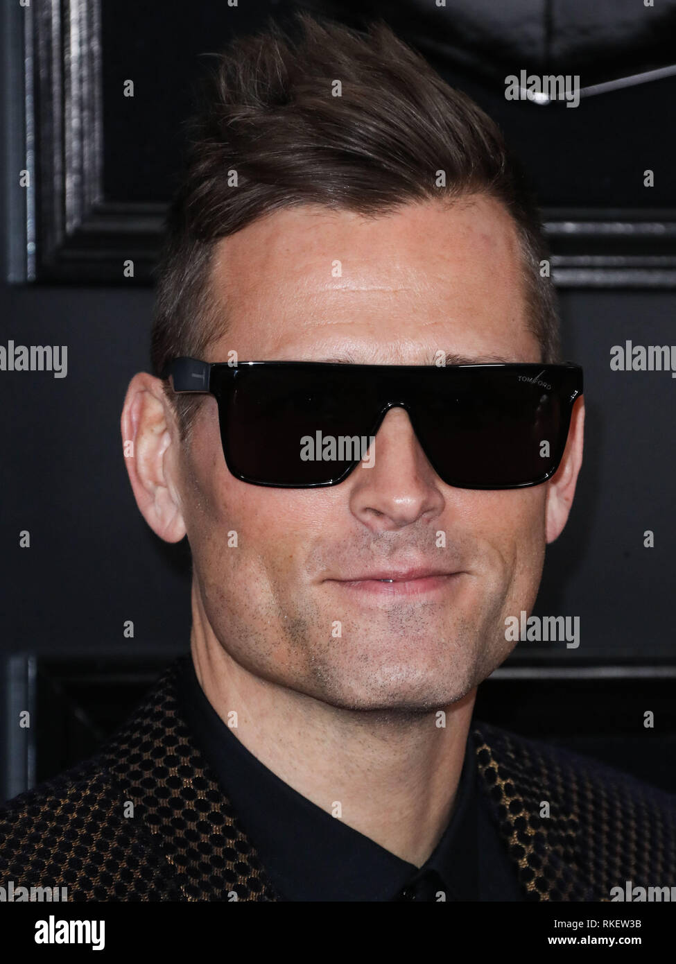 Los Angeles, United States. 10th Feb, 2019.LOS ANGELES, CA, USA - FEBRUARY 10: Kaskade arrives at the 61st Annual GRAMMY Awards held at Staples Center on February 10, 2019 in Los Angeles, California, United States. (Photo by Xavier Collin/Image Press Agency) Credit: Image Press Agency/Alamy Live News Stock Photo