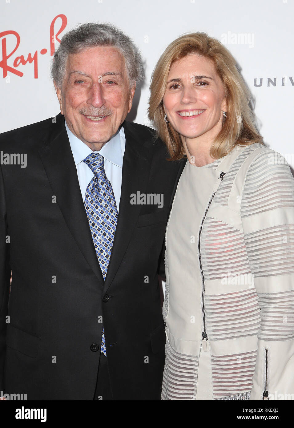 U.S. 10th Feb, 2019. 10 February 2019 - Los Angeles, California - Tony Bennett, Susan Crow. Universal Music Group GRAMMY After Party celebrating the 61st Annual Grammy Awards held at The Row. Photo Credit: Faye Sadou/AdMedia Credit: AdMedia/ZUMA Wire/Alamy Live News - Stock Image