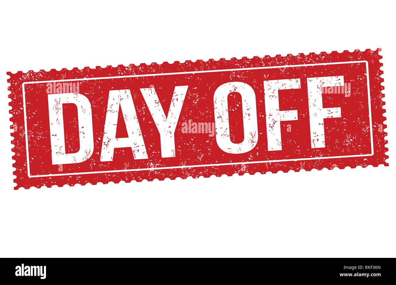 Day off sign or stamp on white background, vector illustration - Stock Vector