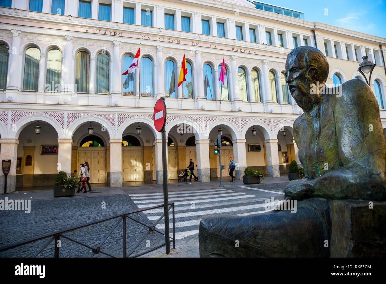 Calderon de la Barca Theater, Valladolid, Castilla y Leon, Spain - Stock Image
