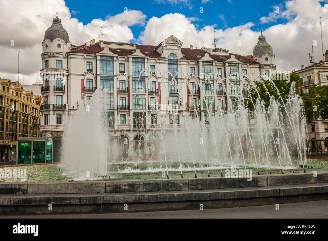 Zorrilla Square, Valladolid, Castilla y Leon, Spain - Stock Image