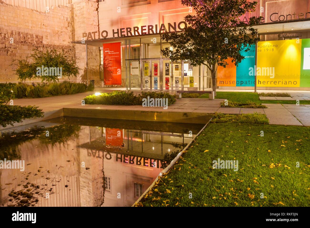 Patio Herreriano Museum, Museum of Contemporary Art, Valladolid, Castilla y Leon, Spain - Stock Image